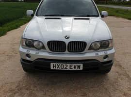 BMW X5 SPORT, 2002 (02) Silver Estate, Automatic Diesel, 171,000 miles