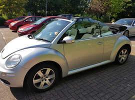 Volkswagen Beetle, 2006 (06) Silver Convertible, Manual Petrol, 94,300 miles