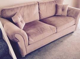 Lounge vintage plush velvet 3 seat sofa