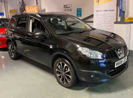 2012/62 Nissan Qashqai + 2 1.5 DCi N-Tec [7] finished in Phantom Black Metallic. 61174 miles