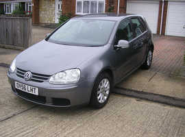 (2007) VW GOLF MATCH 1.6 FSI AUTO MET/GREY 5 DOOR (ONE LADY OWNER 83000 MILES FSH 10 STAMPS IMMACULATE)