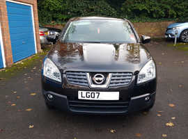 Nissan Qashqai, 2007 (07) Black Hatchback, Manual Petrol, 106,800 miles, 12 month MOT, RARE PANORAMIC ROOF
