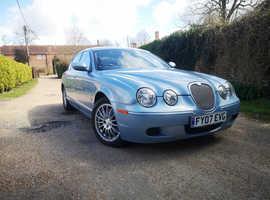 Jaguar S-TYPE, 2007 (07) blue saloon, Manual Diesel, 128,000 miles