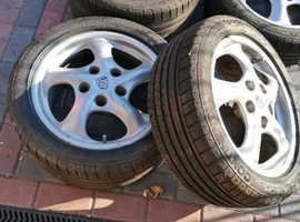 "Set  PORSCHE BOXSTER 986 17"" ALLOY WHEELS BOXSTER WHEELS  ( X4) with tyres"