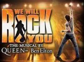 2 tickets for matinee performance of hit show We Will Rock You - Saturday 14th March