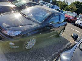 Peugeot 206, 2001 (51) Black Hatchback, Manual Petrol, 128,000 miles