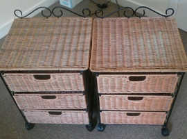 PAIR OF 3 DRAWER TABLES/UNITS FOR SALE