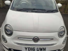 REDUCED Fiat 500, 2016 (16) White Hatchback, Manual Petrol, 43,000 miles