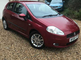 Fiat Grande Punto, 2008 (08) Red Hatchback, Manual Petrol, 110,000 miles