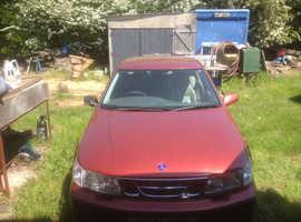 Saab 9-5, 1998 (S) red saloon, Manual Petrol, 63584 miles