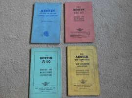 AUSTIN RUNNING AND MAINTENANCE INSTRUCTION BOOKS
