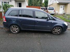 Vauxhall Zafira, 2008 (08) Blue MPV, Manual Diesel, 117,000 miles