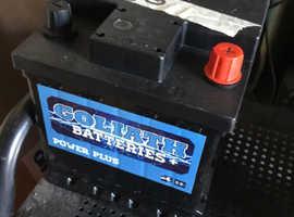 12V Goliath Car Battery for 03plate Fiat Punto 1.2