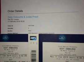 "2X ozzy Osbourne "" No more tours 2"" Tickets"