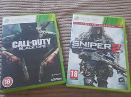 Call of duty black ops and Sniper 2 Ghost Warrior Xbox 360