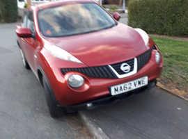 Nissan Juke, 2012 (62) Red Hatchback, Manual Diesel, 52,000 miles