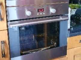 Stainless Electrolux built in oven & microwave