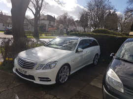 Mercedes E Class, 2012 (12) White Estate, Automatic Diesel, 72,000 miles