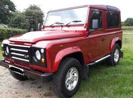 Land Rover Defender 90, 2009 (09) Red Estate, Manual Diesel, 48,276 miles