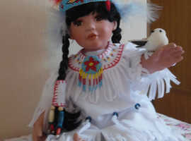 Hamilton collection snowbird porcelain doll beautiful 1994