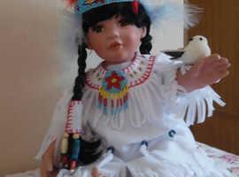 Hamilton collection snowbird porcelain doll