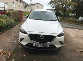 Mazda CX-3, 2015 (15) White Hatchback, Manual Diesel, 67,000 miles