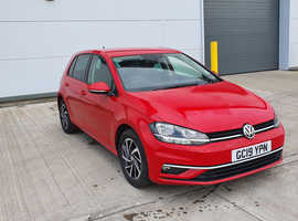 Volkswagen Golf, 2019 (19) Red Hatchback, Semi auto Petrol, 11,000 miles
