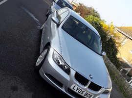 BMW 3 Series, 2005 (05) Silver Saloon, Manual Petrol, 57,000 miles