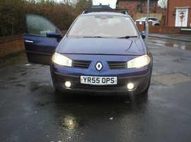 Renault Megane, 2005 (55) Blue Estate, Manual Diesel, 204,685 miles
