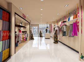 Modern Interior Designing Cloth Shop 3D Interior Modeling by Architectural and Design Services