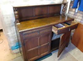Vintage dark oak sideboard