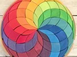 Myriad rainbow spiral puzzle