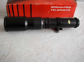 500mm f8 fixed lens