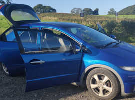 Honda Civic, 2007 (07) Blue Hatchback, Manual Diesel, 181,000 miles