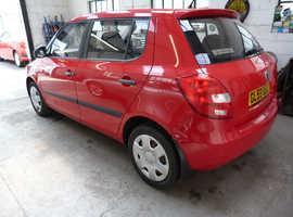 Skoda Fabia, 2009 (59) Red Hatchback, Manual Petrol, 102,000 miles