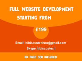 Complete Website Package + SEO  (Starting from £199)