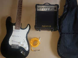 Electric guitar and amp as new