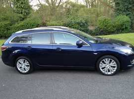 MAZDA 6 TS2 2.2 DIESEL ESTATE 2009(59) YEARS MOT FULL VOSA HISTORY – SAT NAV/REVERSE CAMERA
