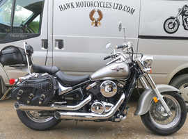 EXCELLENT 2005 KAWASAKI VN800 VULCAN CLASSIC, LOCKING SADDLEBAGS, 28598 MILES