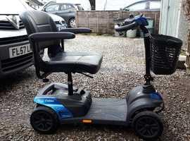 Invacare Colibri Mobility Scooter in Sapphire Blue.