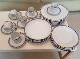 Beautiful French Porcelain Dinnerware Set