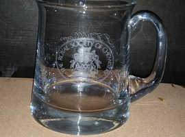 Glass vintage chemists presentation mug