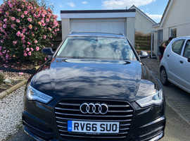 Audi A6, 2016 (66) Black Estate, Manual Diesel, 55,000 miles