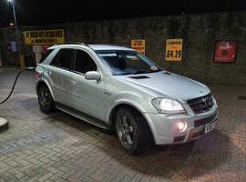 Mercedes ML63 AMG ,84,000 miles,fsh,PX ,p/plate