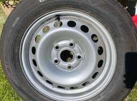 "15""steel wheel + brand new tyre"