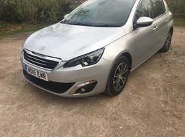 Peugeot 308, 2015 (15) Silver Hatchback, Manual Diesel, 25,000 miles