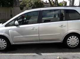 Vauxhall Zafira, 2012 (62) silver mpv, Manual Biofuel, 130000 miles