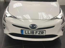 Toyota Prius, 2018 (18) White Hatchback, Cvt , 54,549 miles