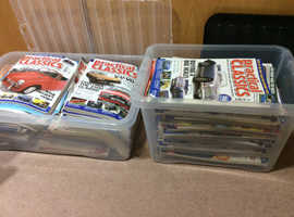 Two boxes of car magazines .practical classic .