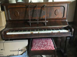 Upright piano and piano stool free to good home